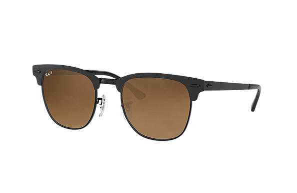 Ray-Ban  prescription sunglasses RB3716 UNISEX P003 clubmaster metal black RX_8053672867060?roxLensPartNumber=Brown_Gradient_Polar_SV