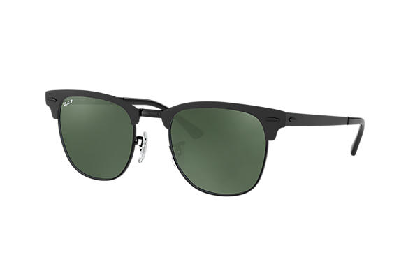 Ray-Ban  prescription sunglasses RB3716 UNISEX P003 clubmaster metal black RX_8053672867060?roxLensPartNumber=Green_Classic_G 15_Polar_SV