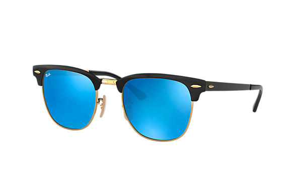 Ray-Ban 0RB3716-CLUBMASTER METAL Black,Gold; Schwarz,Gold ROX_FRAME