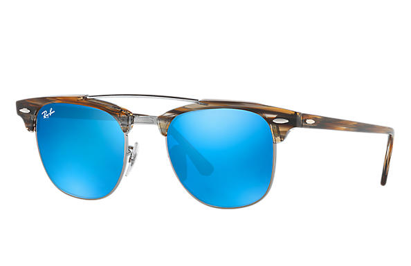 Ray-Ban 0RB3816-CLUBMASTER DOUBLE BRIDGE Braun ROX_FRAME
