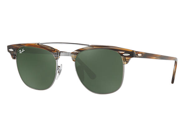 Ray-Ban 0RB3816-CLUBMASTER DOUBLE BRIDGE Brown ROX_FRAME