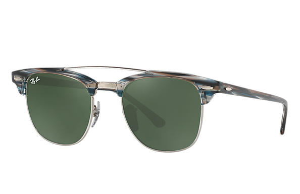 Ray-Ban 0RB3816-CLUBMASTER DOUBLE BRIDGE Blue ROX_FRAME