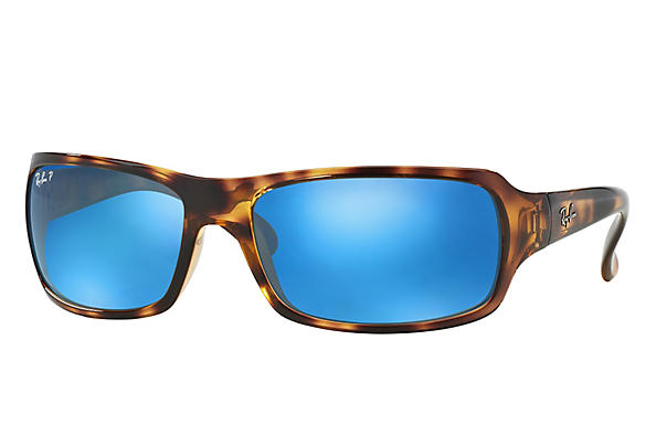 Ray-Ban  prescription sunglasses RB4075 FEMALE P001 rb4075 tortoise RX_805289097860?roxLensPartNumber=Blue_Flash_Polar_SV