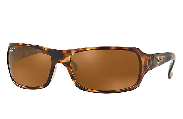 Ray-Ban  prescription sunglasses RB4075 FEMALE P001 rb4075 tortoise RX_805289097860?roxLensPartNumber=Brown_Classic_B 15_Polar_SV