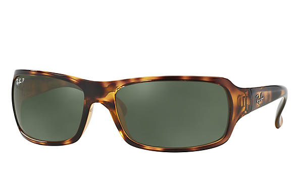 Ray-Ban  prescription sunglasses RB4075 FEMALE P001 rb4075 tortoise RX_805289097860?roxLensPartNumber=Green_Classic_G 15_Polar_SV
