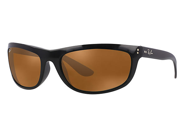 Ray-Ban  prescription sunglasses RB4089 MALE P004 balorama black RX_805289126089?roxLensPartNumber=Brown_Classic_B 15_Polar_SV
