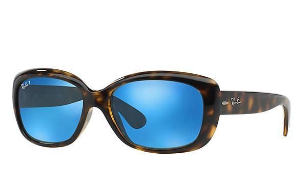 Ray-Ban  prescription sunglasses RB4101 FEMALE P010 jackie ohh tortoise RX_805289162438?roxLensPartNumber=Blue_Flash_Polar_SV