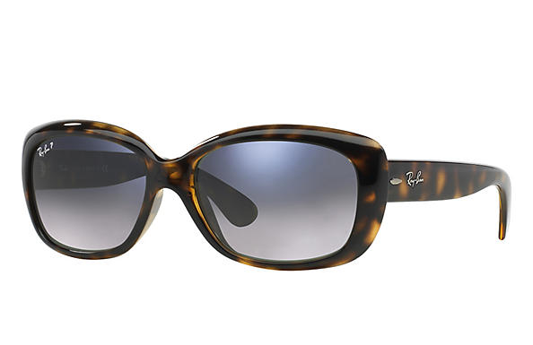 Ray-Ban  prescription sunglasses RB4101 FEMALE P010 jackie ohh tortoise RX_805289162438?roxLensPartNumber=Blue_Grey_Gradient_Polar_SV