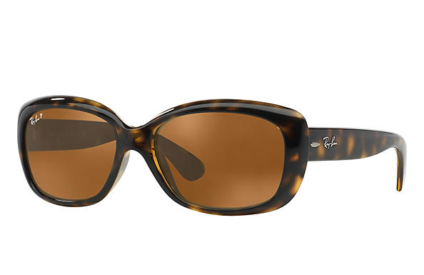 Ray-Ban  prescription sunglasses RB4101 FEMALE P010 jackie ohh tortoise RX_805289162438?roxLensPartNumber=Brown_Classic_B 15_Polar_SV
