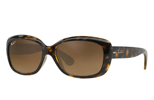 Ray-Ban  prescription sunglasses RB4101 FEMALE P010 jackie ohh tortoise RX_805289162438?roxLensPartNumber=Brown_Gradient_Polar_SV