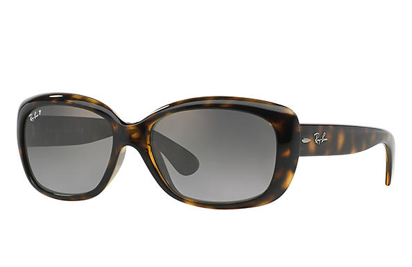Ray-Ban  prescription sunglasses RB4101 FEMALE P010 jackie ohh tortoise RX_805289162438?roxLensPartNumber=Grey_Gradient_Polar_SV