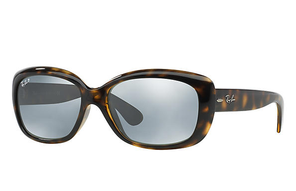 Ray-Ban  prescription sunglasses RB4101 FEMALE P010 jackie ohh tortoise RX_805289162438?roxLensPartNumber=Silver_Flash_Polar_SV