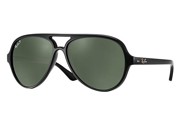Ray-Ban Cats 5000 RB4125 Black - Nylon - Green Prescription Lenses ... f8898827b3cc