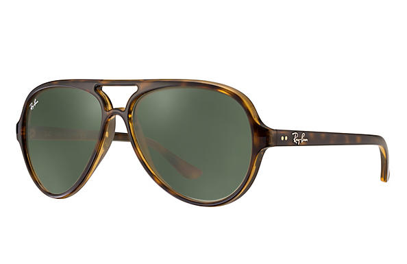 Ray-Ban Cats 5000 RB4125 Tortoise - Nylon - Green