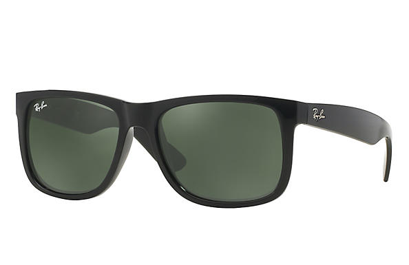ca4001bc2b Ray-Ban Justin RB4165 Black - Nylon - Green Prescription Lenses ...