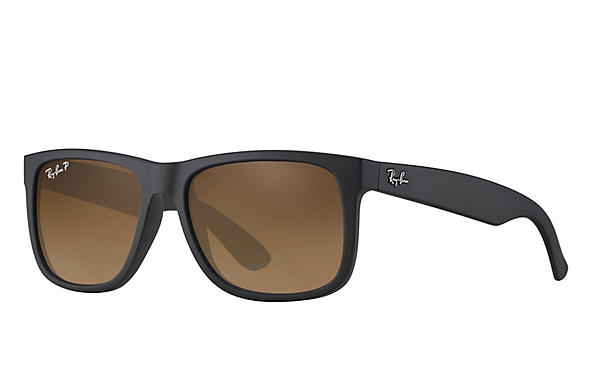 Ray-Ban  prescription sunglasses RB4165 UNISEX P012 justin black RX_805289526575?roxLensPartNumber=Brown_Gradient_Polar_SV
