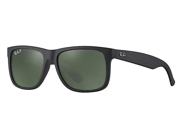 Ray-Ban  prescription sunglasses RB4165 UNISEX P012 justin black RX_805289526575?roxLensPartNumber=Green_Classic_G 15_Polar_SV