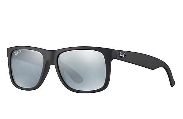 Ray-Ban  prescription sunglasses RB4165 UNISEX P012 justin black RX_805289526575?roxLensPartNumber=Silver_Flash_Polar_SV