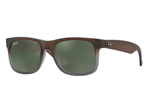 c1570a6a1477 Ray-Ban Justin RB4165 Brown - Nylon - Green Prescription Lenses ...