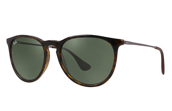 928f9124718 Ray-Ban Erika RB4171 Tortoise - Nylon - Green Prescription Lenses ...