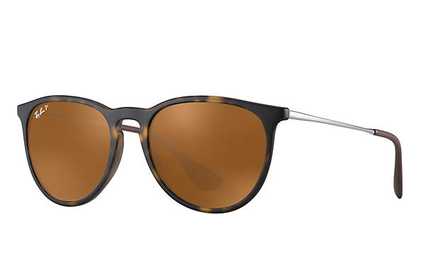 Ray-Ban  prescription sunglasses RB4171 UNISEX P017 erika tortoise RX_805289742470?roxLensPartNumber=Brown_Classic_B 15_Polar_SV