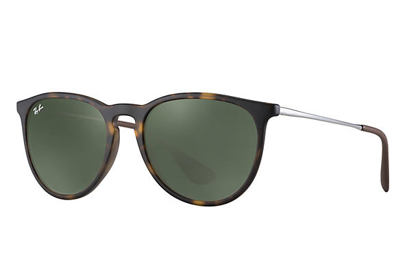 37de2d15f1 Ray-Ban Erika RB4171 Tortoise - Nylon - Green Prescription Lenses ...