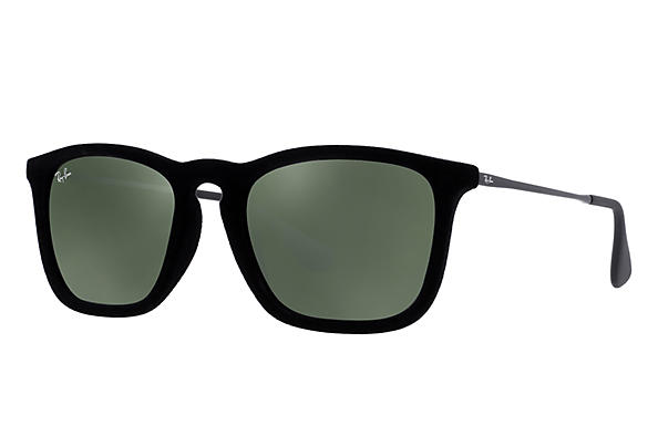 a3d0cfe3c2 Ray-Ban Chris RB4187 Black Velvet - Nylon - Green Prescription ...