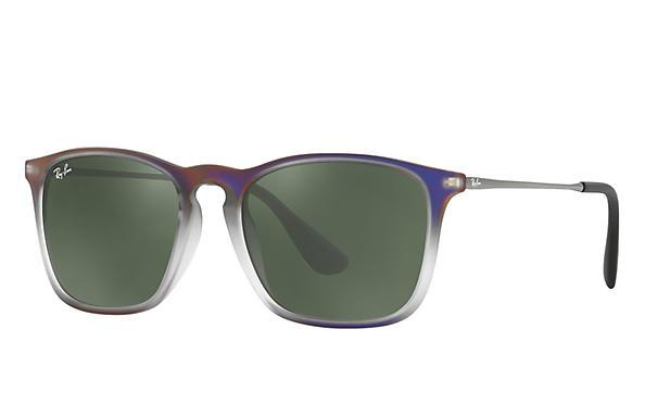 92d2b777b8e Ray-Ban Chris RB4187 Violet - Nylon - Green Prescription Lenses ...