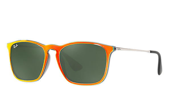 47008c0d0 Ray-Ban Chris RB4187 Orange - Injected - Green Prescription Lenses ...