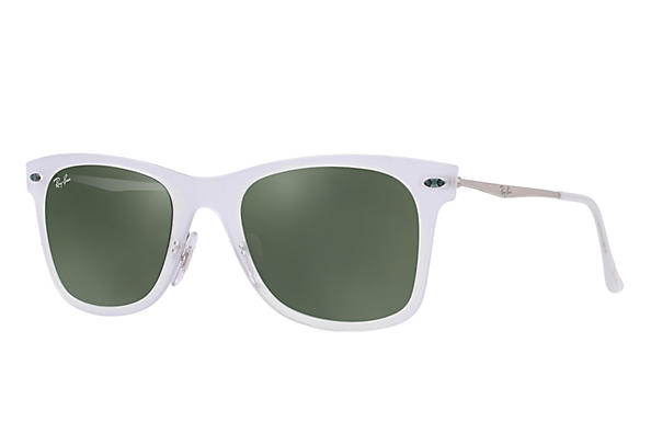 Ray-Ban 0RB4210-WAYFARER LIGHT RAY Transparent; Silver ROX_FRAME