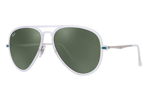 Ray-Ban 0RB4211-AVIATOR LIGHT RAY II Transparent; Silver ROX_FRAME