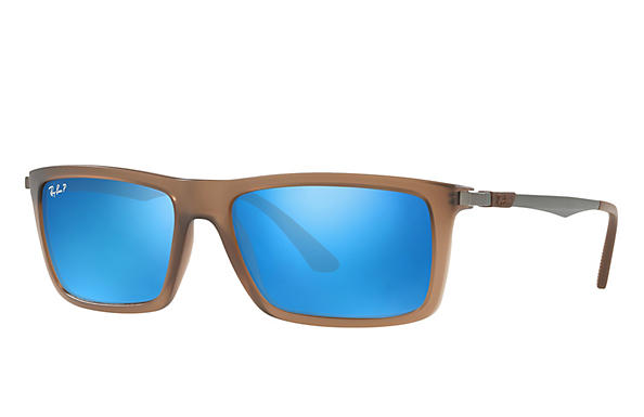 Ray-Ban  prescription sunglasses RB4214 MALE P001 rb4214 brown RX_8053672743333?roxLensPartNumber=Blue_Flash_Polar_SV