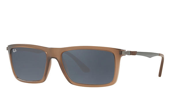 Ray-Ban  prescription sunglasses RB4214 MALE P001 rb4214 brown RX_8053672743333?roxLensPartNumber=Blue_Gray_Classic_SV