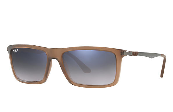 Ray-Ban  prescription sunglasses RB4214 MALE P001 rb4214 brown RX_8053672743333?roxLensPartNumber=Blue_Grey_Gradient_Polar_SV