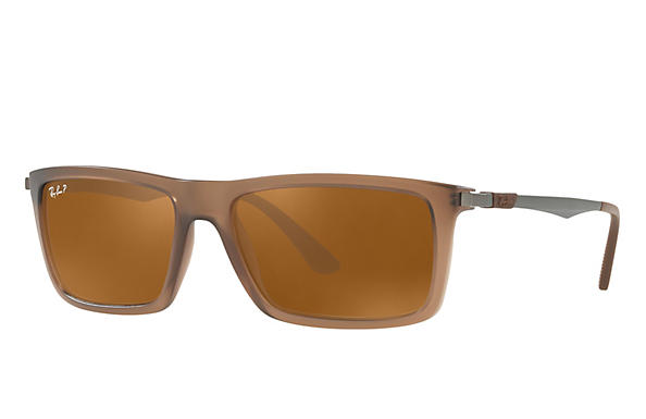 Ray-Ban  prescription sunglasses RB4214 MALE P001 rb4214 brown RX_8053672743333?roxLensPartNumber=Brown_Classic_B 15_Polar_SV