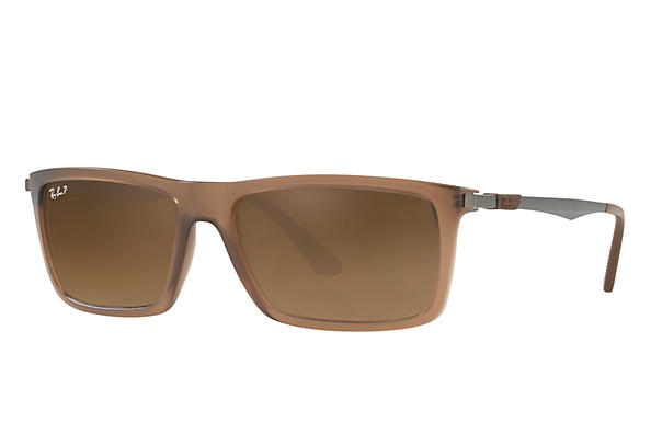 Ray-Ban  prescription sunglasses RB4214 MALE P001 rb4214 brown RX_8053672743333?roxLensPartNumber=Brown_Gradient_Polar_SV