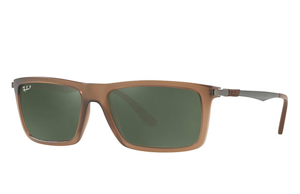 Ray-Ban  prescription sunglasses RB4214 MALE P001 rb4214 brown RX_8053672743333?roxLensPartNumber=Green_Classic_G 15_Polar_SV