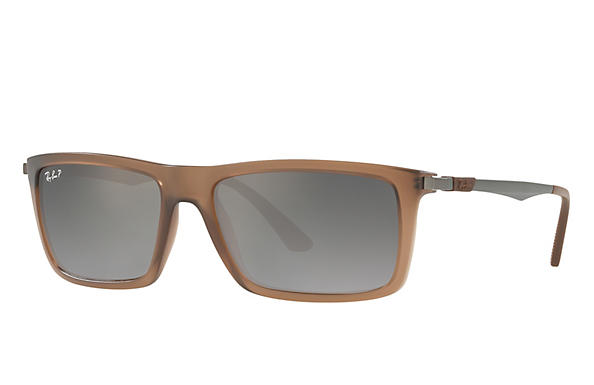 Ray-Ban  prescription sunglasses RB4214 MALE P001 rb4214 brown RX_8053672743333?roxLensPartNumber=Grey_Gradient_Polar_SV