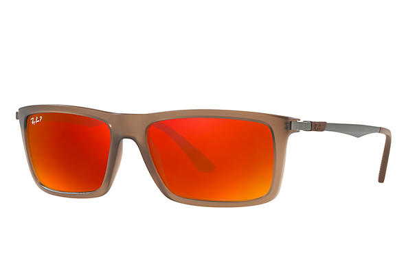 Ray-Ban  prescription sunglasses RB4214 MALE P001 rb4214 brown RX_8053672743333?roxLensPartNumber=Orange_Flash_Polar_SV