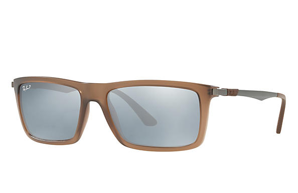 Ray-Ban  prescription sunglasses RB4214 MALE P001 rb4214 brown RX_8053672743333?roxLensPartNumber=Silver_Flash_Polar_SV