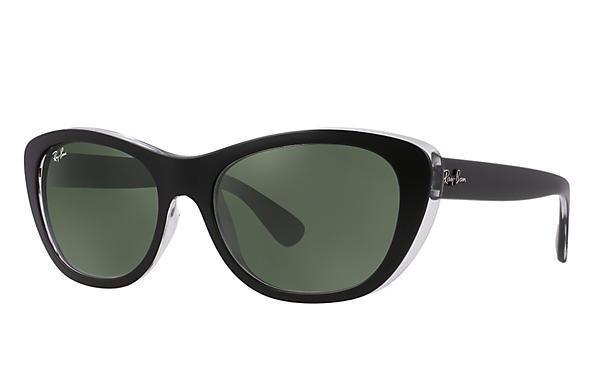 f1eb8f06acaa5 Ray-Ban RB4227 Black - Nylon - Green Prescription Lenses ...