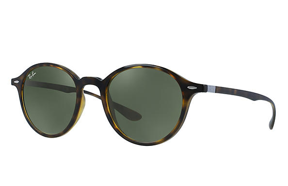 8708abaaa8d9c Ray-Ban Round Liteforce RB4237 Tortoise - Liteforce - Green ...