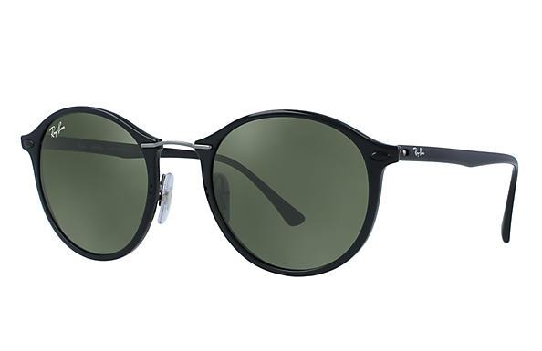 c27f006339 Ray-Ban RB4242 Black - LightRay Titanium - Green Prescription Lenses ...