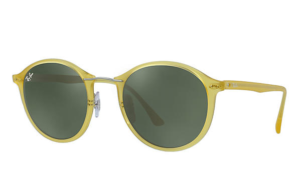 478eccbb9b8 Ray-Ban RB4242 Yellow - LightRay Titanium - Green Prescription ...