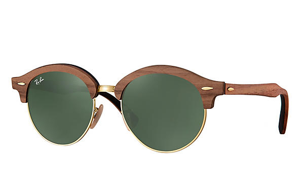 Ray-Ban 0RB4246M-CLUBROUND WOOD Brown,Gold; Brown,Black ROX_FRAME