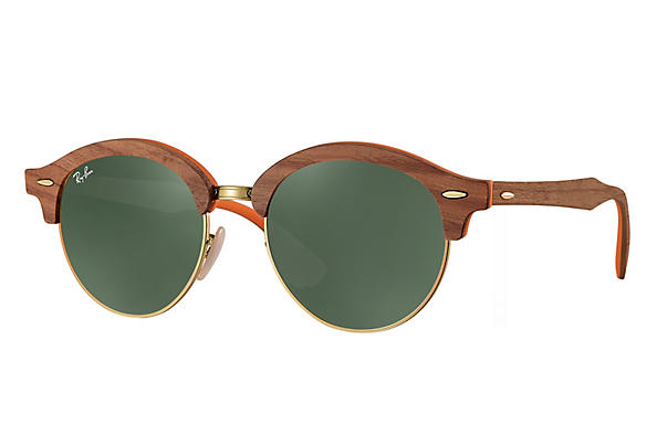 Ray-Ban 0RB4246M-CLUBROUND WOOD Brown,Bronze-Copper; Brown,Orange ROX_FRAME