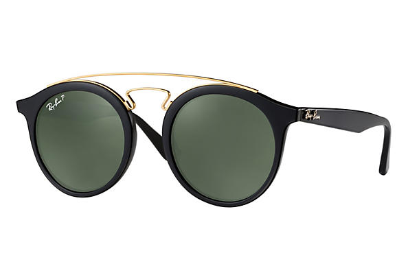 Ray-Ban  prescription sunglasses RB4256 MALE P007 rb4256 gatsby i black RX_8053672615722?roxLensPartNumber=Green_Classic_G 15_Polar_SV