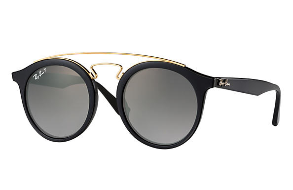 Ray-Ban  prescription sunglasses RB4256 MALE P007 rb4256 gatsby i black RX_8053672615722?roxLensPartNumber=Grey_Gradient_Polar_SV