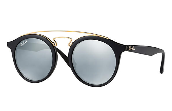 Ray-Ban  prescription sunglasses RB4256 MALE P007 rb4256 gatsby i black RX_8053672615722?roxLensPartNumber=Silver_Flash_Polar_SV