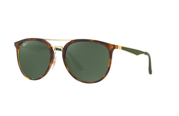 Ray-Ban  prescription sunglasses RB4285 UNISEX P002 rb4285 tortoise RX_8053672926996?roxLensPartNumber=Green_Classic_G 15_Polar_SV